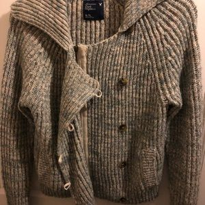 America Eagle Zip up Sweater